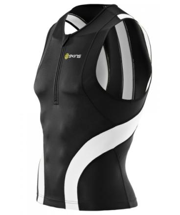 Skins TRI400 miesten triathlon-paita, valkoinen/musta XS 2015 Märkäpuvut
