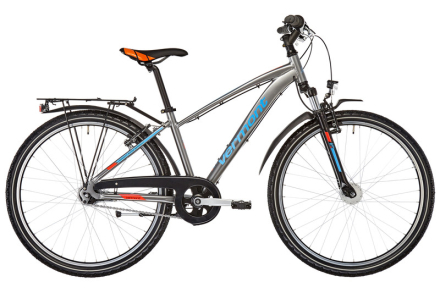 Vermont Madoc 26 NX Lapset nuorten pyörä , harmaa/sininen 38 cm 2018 Lasten kulkuneuvot