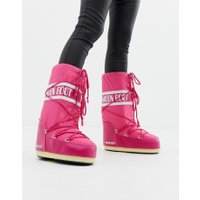 Moon Boot Nylon Icon Snowboots in Pink - Bouganville pink