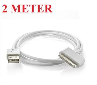 2 Meter iPod/iPhone Kabel (Hvid)