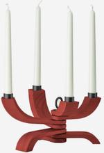 Design House Stockholm. Nordic Light 4-armad ljusstake, röd