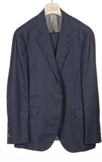 Brunello Cucinelli herre jakkesæt Ma448a300 C432 Mørkeblå 54 IT - 4...