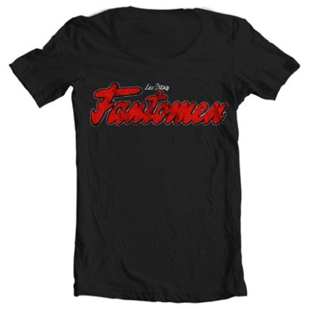 Fantomen Distressed Logo Wide Neck Tee, Wide Neck T-Shirt
