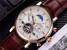 Patek-philippe Men's Water Resistant Watch Complication Timepiece with Moon Phase Automatic Self-Wind Mechanical Wristwatches