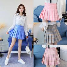 Harajuku Short Skirt New Korean Plaid Skirt Women Zipper High Waist School Girl Pleated Plaid Skirt Sexy Mini Skirt