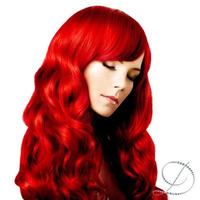 #Röd, 50cm, Nail hair (Original 50g)