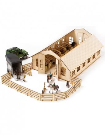Zabawka drewniana Stadnina konna