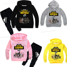 Fortnites Casual Tracksuit Children 2 Pieces Sets Hooded Sweatshirts Fortress Autumn Boys Girl Kid Clothes Hoodies Pants Suit