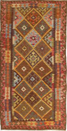 Kelim Afghan Old style teppe 99x198 Orientalsk Teppe