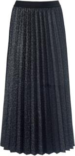 Plisserad kjol i 100% polyester från Margittes grå