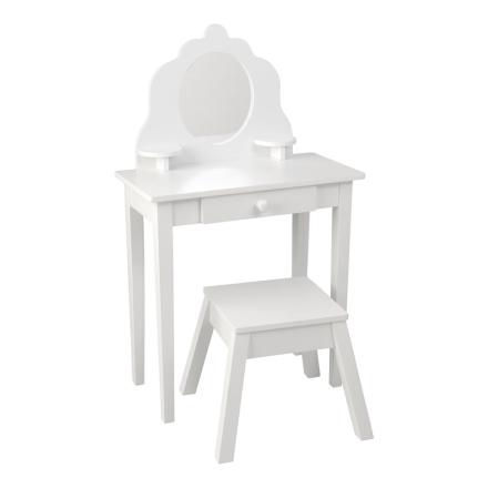 KidKraftSminkbord med Pall Vit