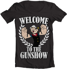 Popeye - Welcome To The Gunshow Wide Neck Tee, Wide Neck T-Shirt