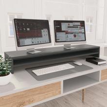 vidaXL skærmstander 100 x 24 x 13 cm spånplade grå