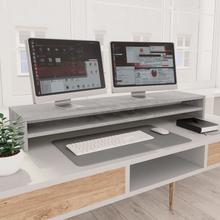 vidaXL skærmstander 100 x 24 x 13 cm spånplade betongrå