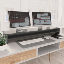 vidaXL skærmstander 100 x 24 x 13 cm spånplade grå højglans