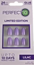 Perfect 10 Lilac False Nails 24 kpl + 2 g