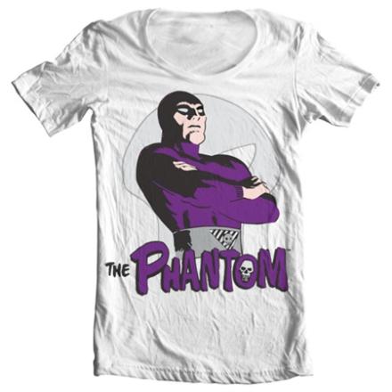 The Phantom Pose Wide Neck Tee, Wide Neck T-Shirt