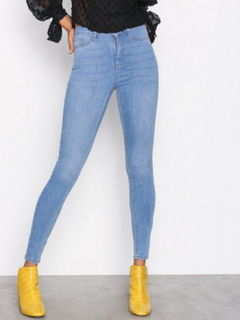 Gina Tricot Molly High Waist Jeans Slim Mid Blue