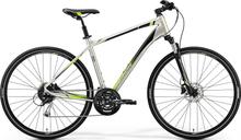 """Merida Crossway 100 Hybridcykel Silver, 28"""", Skivbroms, 27 växlar,14,2kg"""