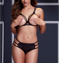 Strappy Open Bra & Panty Set O/S