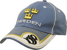 Sverige keps tre kronor blå