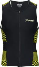 Zoot Performance Tri Full-Zip Singlet Volt Checkers