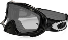 Oakley Crowbar MX Jet Black Goggles Jet Black. Clear