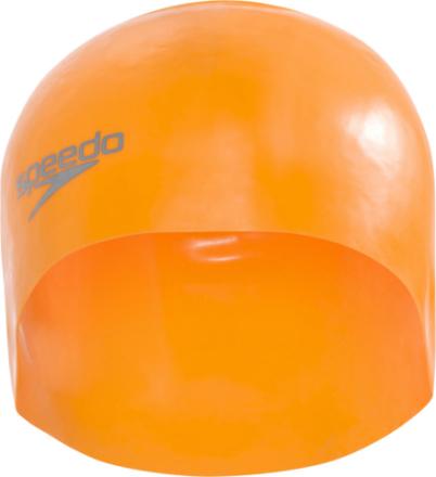 speedo Plain Moulded Badehette Orange 2018 Badehetter