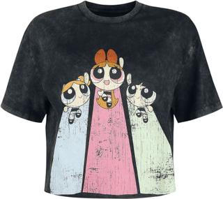 The Powerpuff Girls - Stripes -T-skjorte - mørkegrå