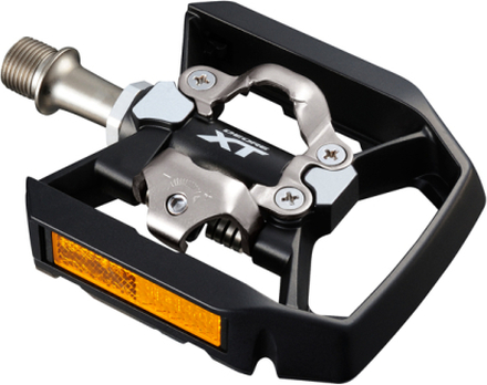 Shimano XT T8000 Trekking Kombipedaler Svart/Silver, SPD, 392g, inkl. Klossar