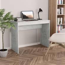 vidaXL Skrivebord betonggrå 90x40x72 cm sponplate