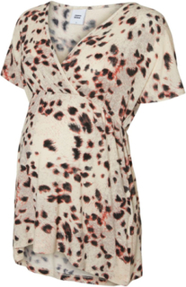 MAMA.LICIOUS Leopardprintet Mammatopp Women Grey