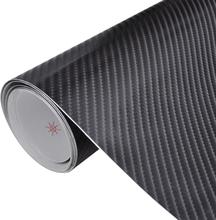 vidaXL Vinylfolie för bilar kolfiber 4D 152 x 500 cm svart