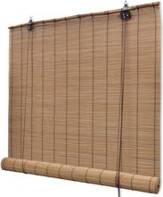 vidaXL Rullgardin i bambu 140 x 160 cm brun