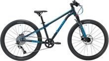 """Frog Bikes MTB 62 - 24"""" Barnesykkel Grå/Blå, 8-10 år, 9 gir, 11 kg"""
