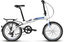 """Kross Flex 2.0 Kombicykel Vit/Blå, 6 växlar, 20"""" hjul, 13,4 kg"""