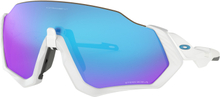 Oakley Flight Jacket Glasögon Matte White/Prizm Sapphire