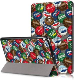iPad Air (2019) tri-fold pattern case - Bottle Caps