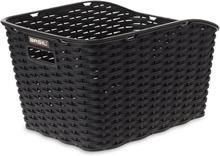 Basil Weave WP Bag Basket Flätad black 2020 Cykelkorgar för pakethållare