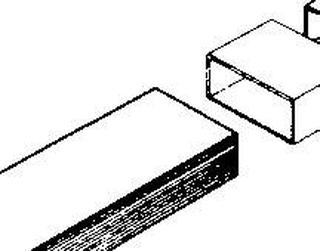 Fladkanals-ventilationssystem 100 Wallair Firkantrør Dimensioner (L x B x H) 1 m x 11 cm x 5.5 cm Hvid