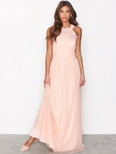 38625e36ffcc Little Mistress Floral Applique Maxi Dress Maxiklänningar Peach