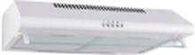 EICO S 62 - Hætte - standard - bredde: 60 cm - dybde: 50 cm - udsugning & recirculation - med intern motor - glas/hvid