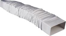 Platt kanalventilationssystem 150 Wallair Flexibel fyrkantsrör-adapter Mått (L x B x H) 27 x 22 x 9 cm Vit