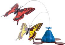 Kattleksak med fjärilar - Whirling Wiggler