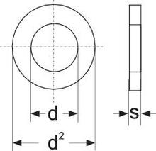 Brickor Inre diameter: 8.4 mm M8 DIN 125 Stål förzinkad 50 st TOOLCRAFT 814741