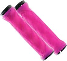 Race Face Love Handle Kahvojen pitokumit, neon pink 2021 Sähköpyörän kahvat