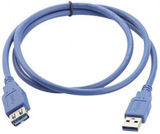 Manhattan USB 3.0 Förlängningskabel [1x USB 3.2 Gen 1 A hane (USB 3.0) - 1x USB 3.2 Gen 1 A hona (USB 3.0)] 3.00 m Blå guldpläterad kontakt, UL-certifierad