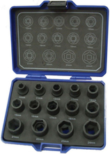 """BATO Krafthylssats 1902, 1/2"""" 10-24 mm, 14 delar"""