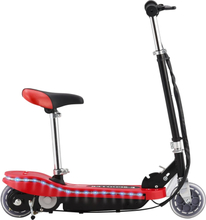 vidaXL Elektrisk sparkesykkel med sete og LED 120 W rød