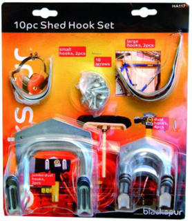 10 st shed hook set